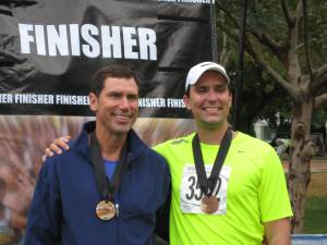 Father and son marathoners